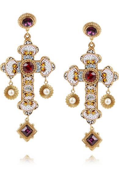 Hot Jewels: Dolce & Gabbana Cross Earrings