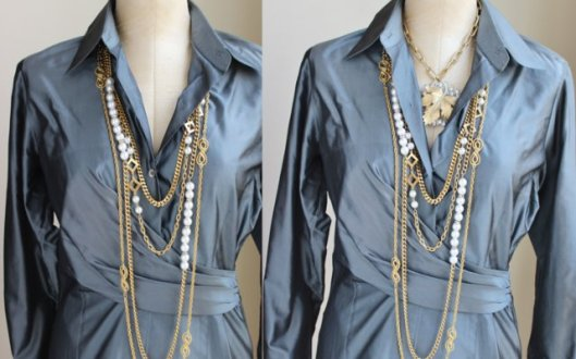 layers without the 18 inch versus the with the 18 inch necklace