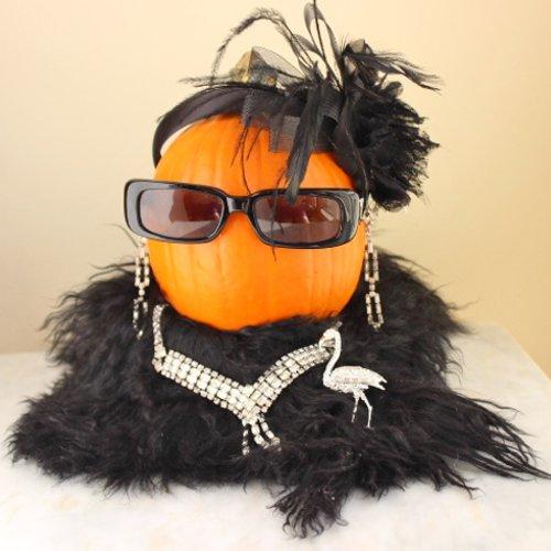 art deco pumpkin flapper