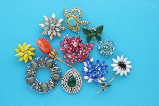 colored brooch