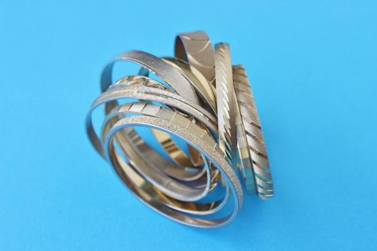 gold hard bangles