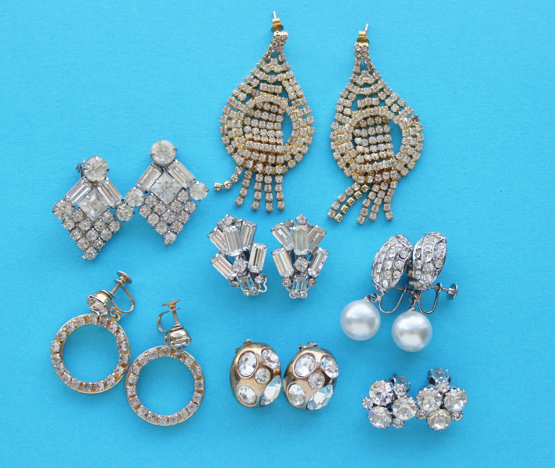 rhienstone earrings