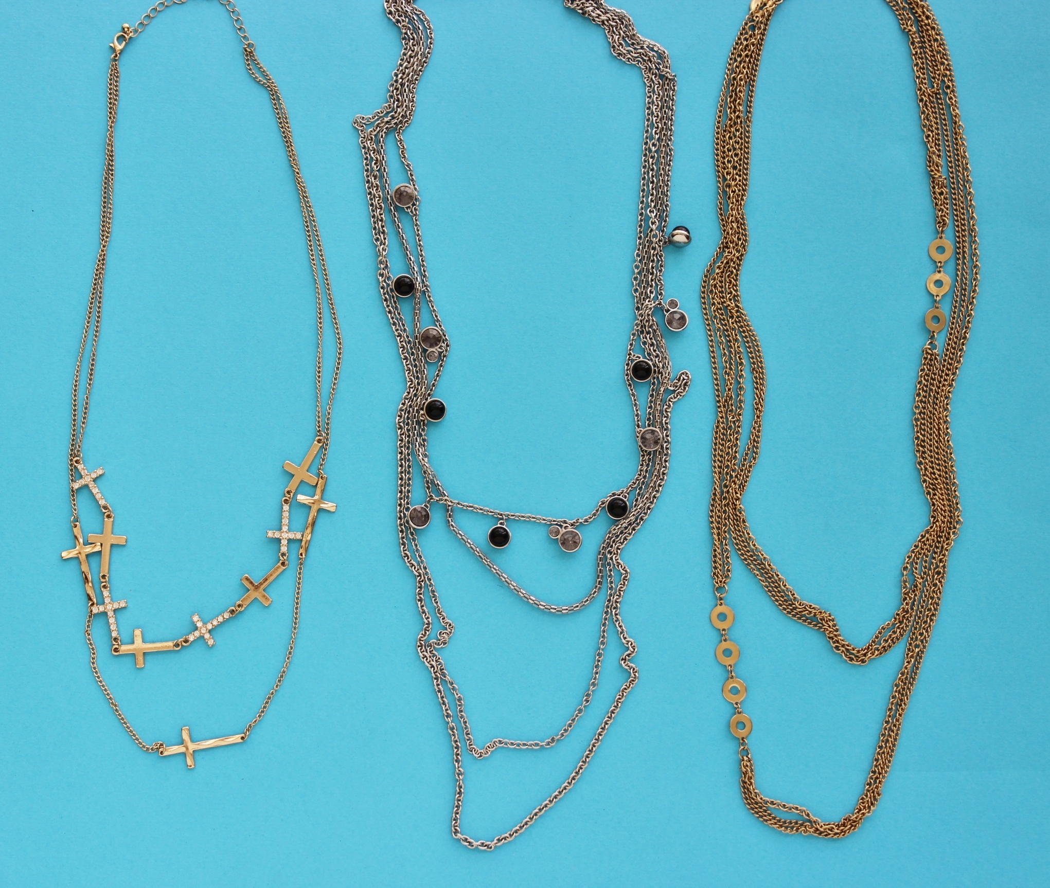 skinny layering necklaces