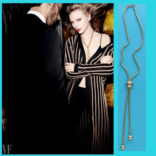 Taylor Swift 70s gold necklace Vanity Fair September 2015
