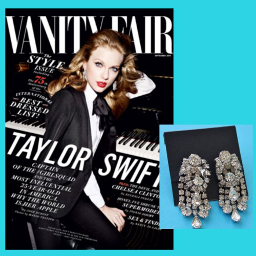 taylor swift chandelier earrings cover vanity fair
