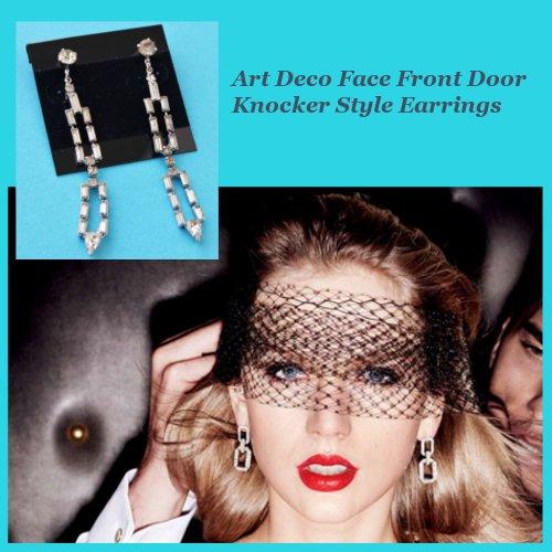 Taylor Swift Rhinestone earrings Vanity Fair September 2015