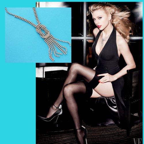 Taylor Swift Rhinestone fringe tassel necklace vanity fair