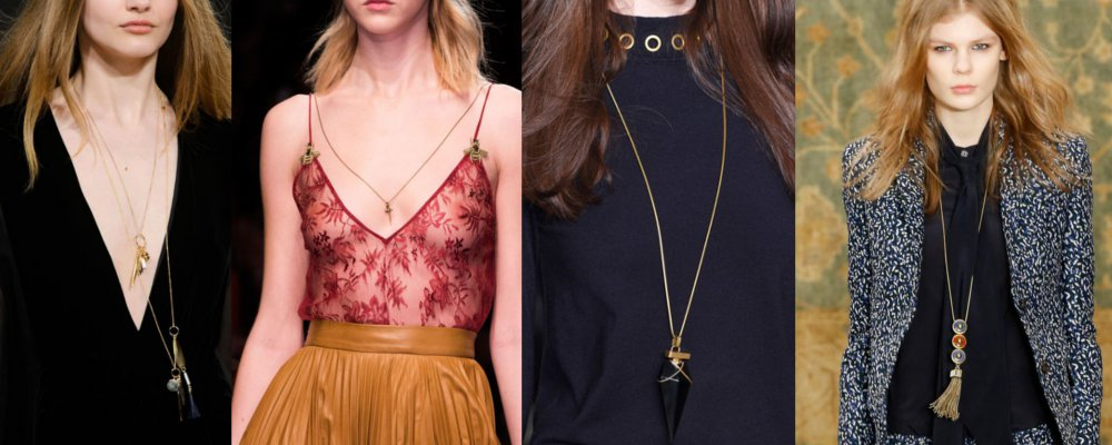 fall trends 70s fine layers and pendent necklaces