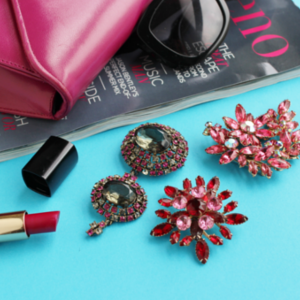 hot pink brooches and pink hb